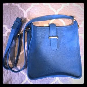 Bright blue roomy crossbody
